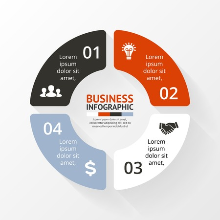 Infographie Circle. Diagramme, graphique, présentation. Banque d'images - 35930280