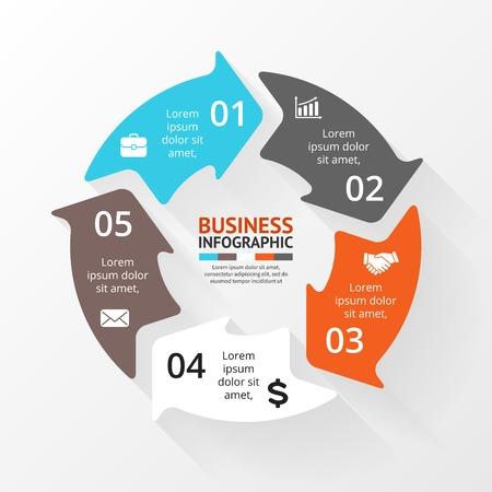 Flèches Cercle infographiques. Diagramme, graphique. Banque d'images - 35930390
