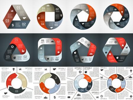 diagrama: Infograf�a Circle. Diagrama, gr�fico, presentaci�n. Vectores