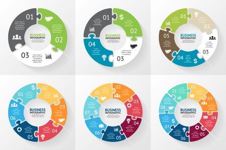 Puzzle Cercle infographie. Diagramme, graphique, présentation. Banque d'images - 35930406
