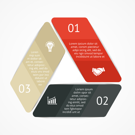 Triangle infographic. Diagram, graph, presentation. Vector