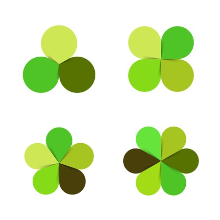Circle green leaves Illustration