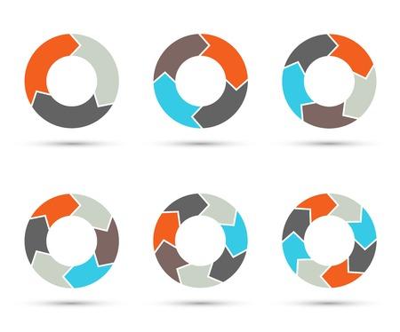 Flèches Vector cercle fixés pour infographie. diagramme. Banque d'images - 36244784
