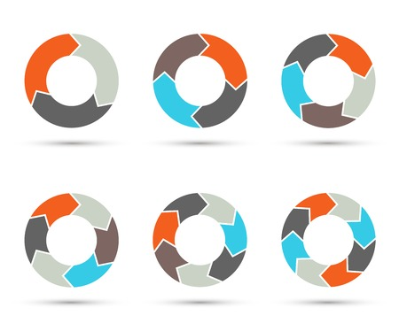 Vector circle arrows set for infographic. diagram. Illustration
