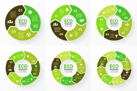 Vector cirkel ecologie infographic. Natuur zorg.