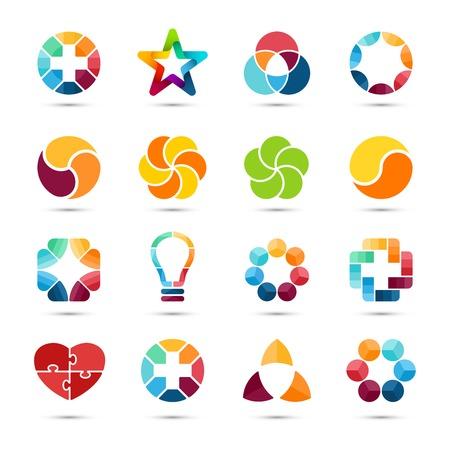 Vector set. Circle  signs and symbols. Design elements.