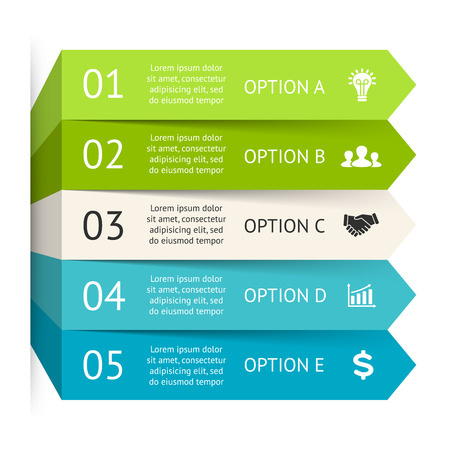 Vector arrows infographic. Template for diagram, graph, presentation, chart. Business concept with 5 options, parts, steps or processes. Step up progress and growth.