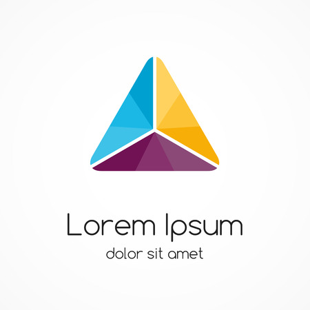 Logo template. Moderne vector abstracte driehoek creatief teken of symbool. Geometrisch element