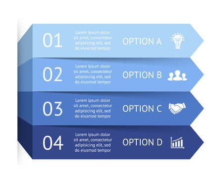 steps: Vector infographic. Template for diagram, graph, presentation and chart. Business concept with 4 options, parts, steps or processes. Abstract background.