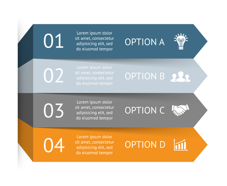 performance: Layout for your options or steps. Abstract template for background.