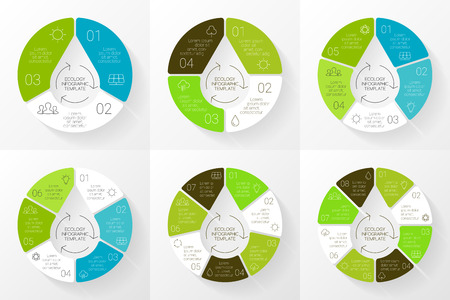 Vector eco círculo lineal infografía. Plantilla de la ecología por un diagrama, gráfico, presentación y gráfico. El concepto de cuidado del medio ambiente con 3, 4, 5, 6, 7, 8 opciones, piezas, etapas o procesos. Concepto de la naturaleza. Gota de agua. Foto de archivo - 40600951