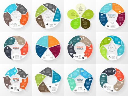 diagrama: Vector flechas círculo infografía. Plantilla para el diagrama del ciclo, gráfico, la presentación y el gráfico ronda. Concepto de negocio con 5 opciones, la igualdad de las partes, etapas o procesos. Resumen de antecedentes.
