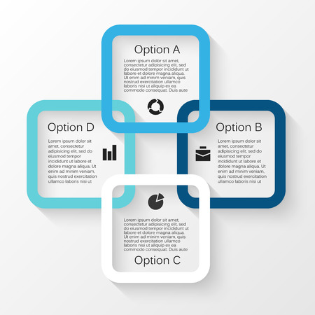 Vector Kreis Infografik. Vorlage für Zyklusdiagramm, Grafik, Präsentation und Runde Diagramm. Business-Konzept mit 4 Möglichkeiten, Teile, Schritte oder Verfahren. Zusammenfassung Hintergrund. Standard-Bild - 40965283