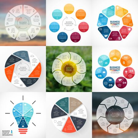 chart vector: Vector circle infographic. Template for cycle diagram, graph, presentation and round chart. Business concept with 6 options, parts, steps or processes. Abstract background.