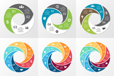 circular flow: Layout for your options or steps. Abstract template for background.