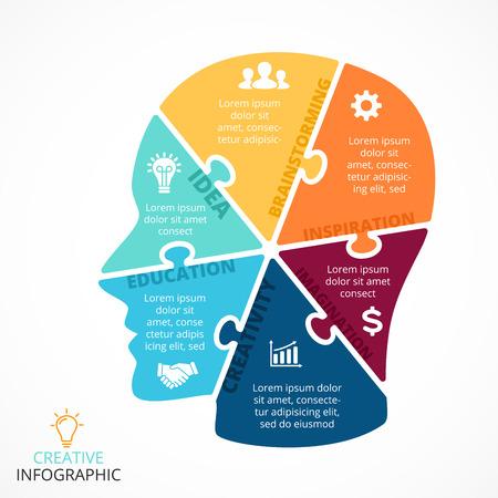 lluvia de ideas: Disposición para sus opciones o pasos. Resumen plantilla para el fondo.