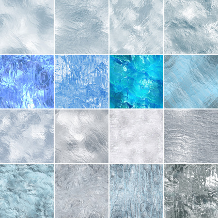 Seamless ice texture, computer graphic, big collection Banco de Imagens - 43125304
