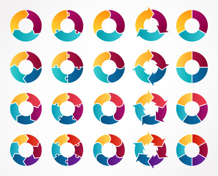 circles: Layout for your project. Abstract template for background.