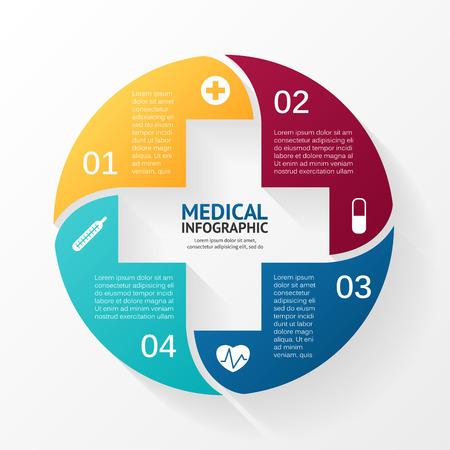 logo medicina: Disposición para sus opciones. Puede ser utilizado para obtener información gráfica.
