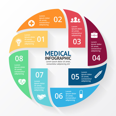 doctor of medicine: Layout for your options. Can be used for info graphic.
