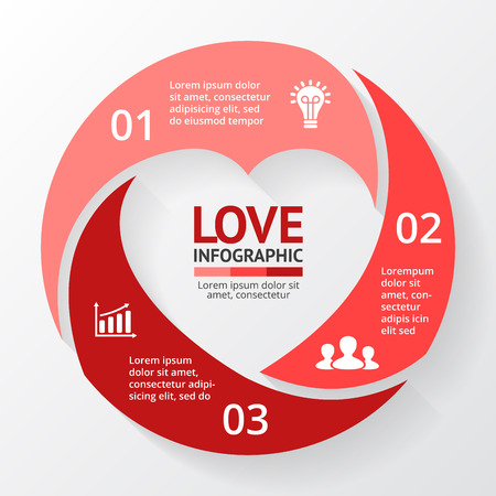 love strategy: Layout for your options or steps. Abstract template for background.