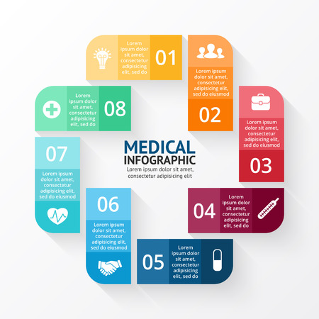 medical symbol: Layout for your options. Can be used for info graphic.