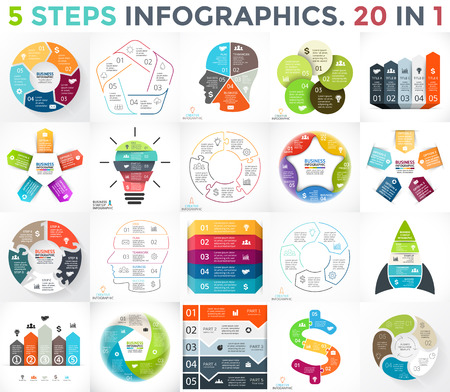 Layout for your options or steps. Abstract template for background. Vector Illustration