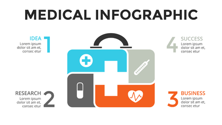 emergency medical: Layout Vector plus infographic, medical diagram, healthcare graph, hospital presentation, emergency chart. Medicine doctor logo.