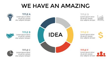 Vector infographic cirkel, cyclusdiagram, grafiek, presentatiegrafiek. Bedrijfsconcept met 3 opties, onderdelen, stappen, processen.