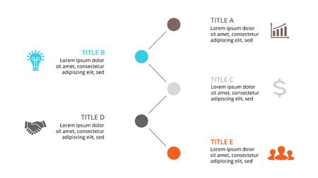 numbers abstract: Circle arrows diagram for graph infographic presentation with steps parts options. Illustration