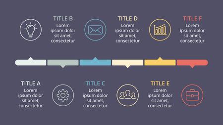 Timeline di vettore cerchio frecce infografica, diagramma del ciclo, grafico, grafico di presentazione. Archivio Fotografico - 80831536