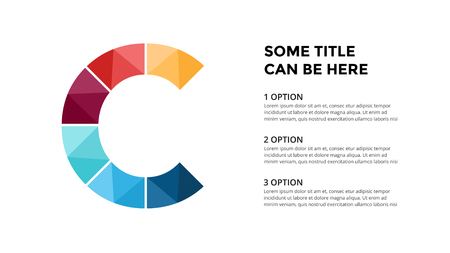 벡터 알파벳 infographic, 프레 젠 테이 션 슬라이드 템플릿입니다. 문자 C와 장소 텍스트 비즈니스 개념. 16x9 화면 비율. 일러스트