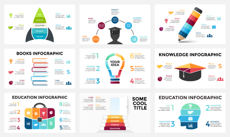 Vector arrows infographic, diagram chart, graph presentation. Business report with 3, 4, 5, 6, 7, 8 options, parts, steps, processes. Timeline map. Data analytics. Percentage status. Growth success concept. Illustration