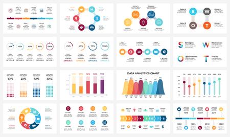 Circle arrows diagram for graph infographic presentation with steps parts options. Vektoros illusztráció