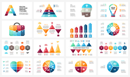 Circle arrows diagram for graph infographic presentation with steps parts options. Ilustrace