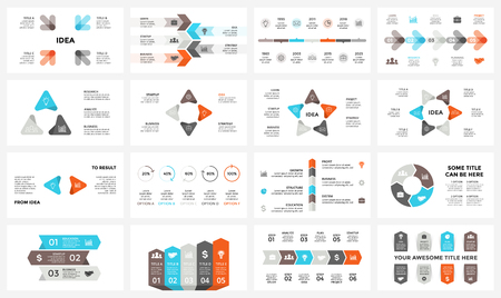Vector circle arrows infographic, cycle diagram, graph, presentation chart. Business concept with 3, 4, 5, 6, 7, 8 options, parts, steps, processes. 16x9 slide template.
