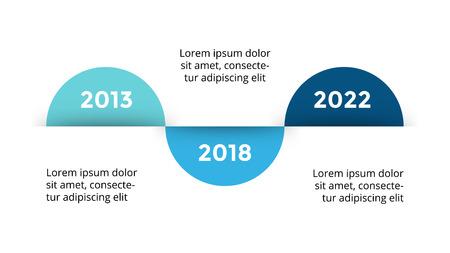 Vector arrows circles timeline infographic, diagram chart, graph presentation. Business progress concept with 3 options, parts, steps, processes. Çizim