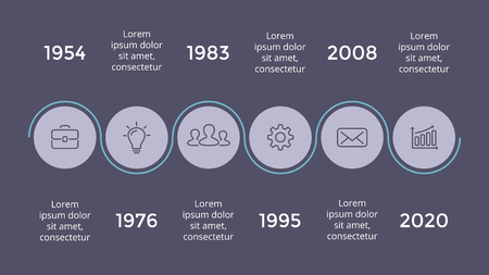 Vector metaball triangles timeline infographic, diagram chart, graph presentation. Business progress concept with 5 options, parts, steps, processes. Dark slide 16x9. Illustration