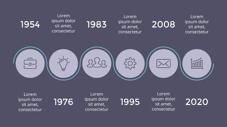 Vector metaball driehoeken tijdlijn infographic, diagram grafiek, grafiek presentatie. Bedrijfsvooruitgangsconcept met 5 opties, onderdelen, stappen, processen. Donkere dia 16x9.