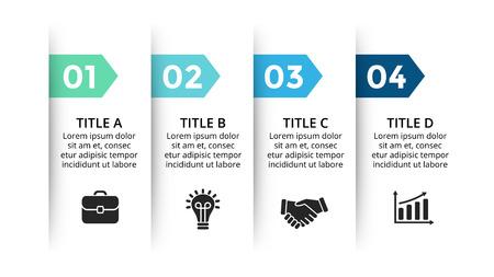 Diagramme de flèches de cercle pour la présentation infographique graphique avec des options de pièces d'étapes