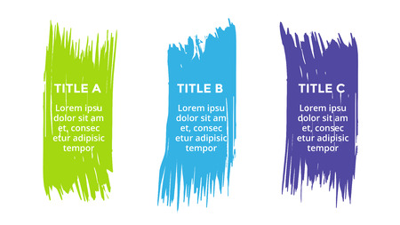 Circle arrows diagram for graph infographic presentation with steps parts options. Stock Illustratie