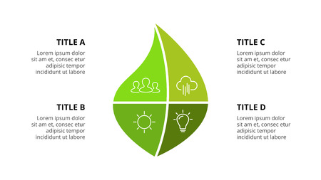 Presentation slide template with infographic elements. Standard-Bild - 112182527