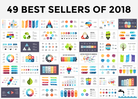 Szablony prezentacji slajdów z elementami infografiki.