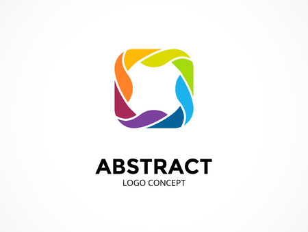 Abstract logo template. Modern vector circle creative sign or symbol. Design geometric element Illustration