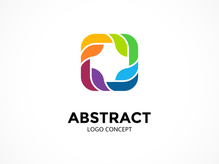 Abstract logo template. Modern vector circle creative sign or symbol. Design geometric element Иллюстрация