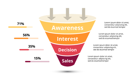 Cirkel pijlen diagram voor grafiek infographic presentatie met opties voor stappen delen.