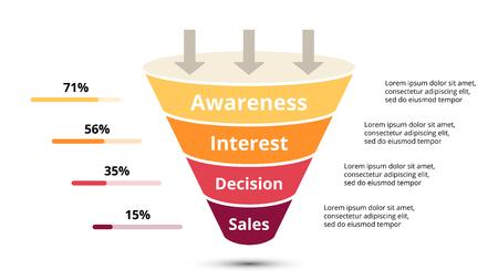 Koło strzałki diagramu wykresu prezentacji infografiki z opcjami części kroków.