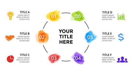 Presentation slide template with infographic elements.
