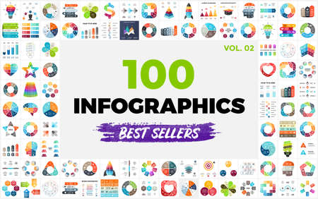100 Best-Selling Infographic Templates. Part 2. Perfect for any purpose from Presentation or Web Elements to Print or Graphics.