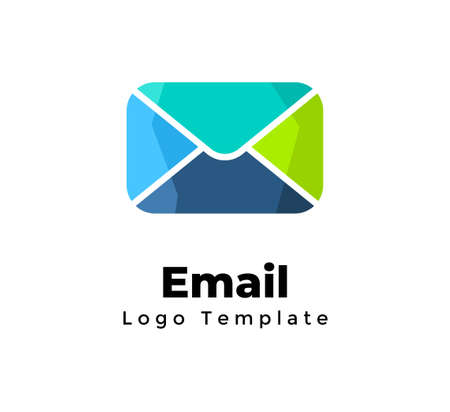 Creative vector email logo template. Marketing communication. Abstract mailing sign. Modern minimalistic letter symbol. Marketing graphic element. Web message icon.